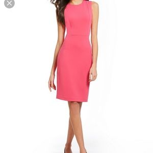 Calvin Klein Coral Sheath Dress- Like New